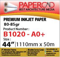 papercad premium injek paper 80-85 44''x50mA0+